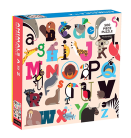 Animals A-Z 500pc Puzzle