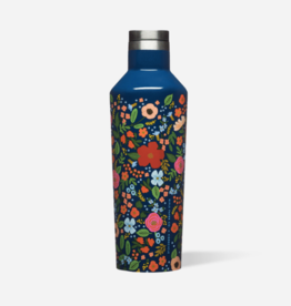 16 oz Rifle Paper Wild Rose Gloss Navy Canteen