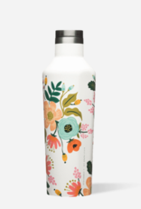 16 oz Rifle Paper Lively Floral Gloss Cream Canteen