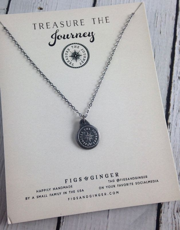 Treasure the Journey Medallion Necklace made of Recycled Sterling Silver