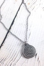 Find Yourself in the Mountains Necklace made of Recycled Sterling Silver