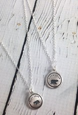 Figs&Ginger Mama Bear & Her Bear Cub, Set of 2 Recycled Sterling Silver Necklaces by Figs & Ginger