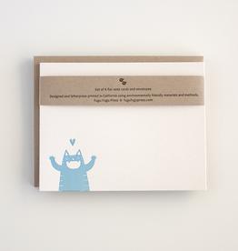 Happy Cat Flat Notecard Set of 8