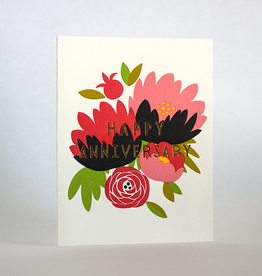 Happy Anniversary Bouquet Card