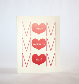 Mother's Day Three Heart Card