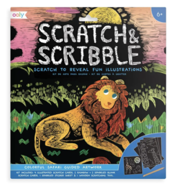 Scratch & Scribble Art Kit: Colorful Safari