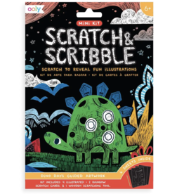 Mini Scratch & Scribble Art Kit: Dino Days