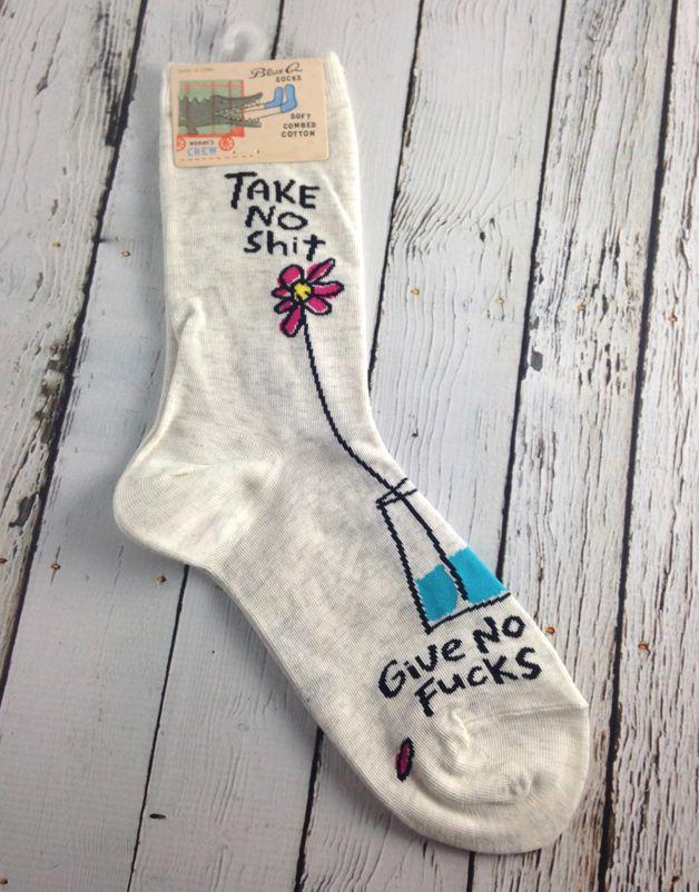 Take No Shit Women's Crew Socks