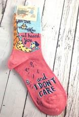 I Heard You Don't Care Women's Cew Socks
