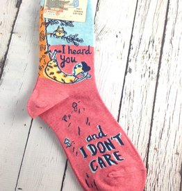 I Heard You Don't Care Women's Cew Socks