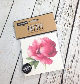 Scented Pink Peony Temporary Tattoos