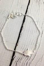 Brushed Silver Hasma with Cubic Zirconia Bracelet