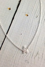 Sterling Silver Cubic Zirconia Pave Star Necklace