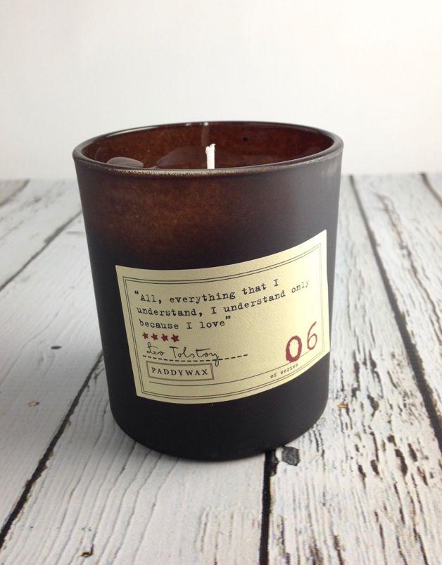Leo Tolstoy Black Plum + Persimmon + Oakmoss Candle