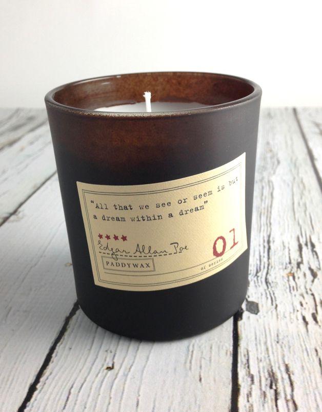 Edgar Allan Poe Cardamom + Absinthe + Sandalwood Candle