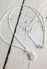 Small Sterling Silver Owl Necklace