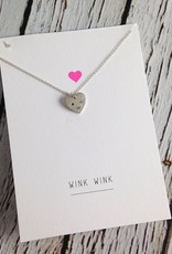 Handmade Sterling Silver Winky Face Necklace