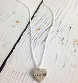 Handmade Sterling Silver The Sparkle is Real Unicorn Necklace