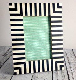 Large Black & White Striped Frame