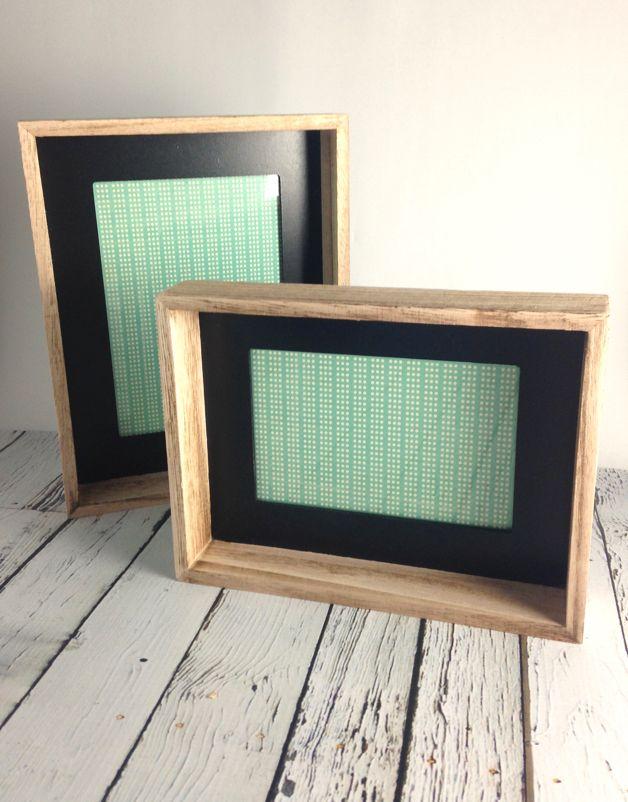 "5x7"" Wood Framed Photo Frame w/ Black Inside Edge, 7-1/2""L x 9-1/2""H"