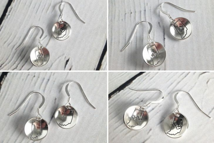 Sterling Silver Indiana Earrings