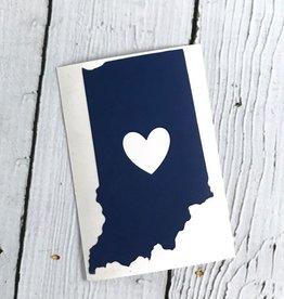 Blue Indiana Heart Cutout Sticker