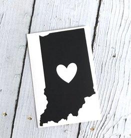 Black Indiana Heart Cutout Sticker