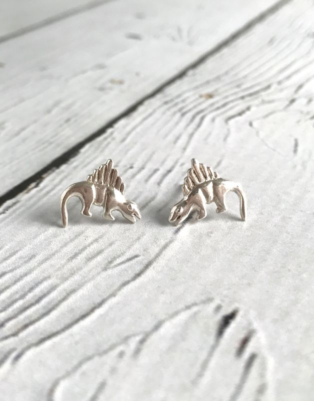 ae887d312 Sterling Silver Dinosaur stud Earrings - Silver in the City