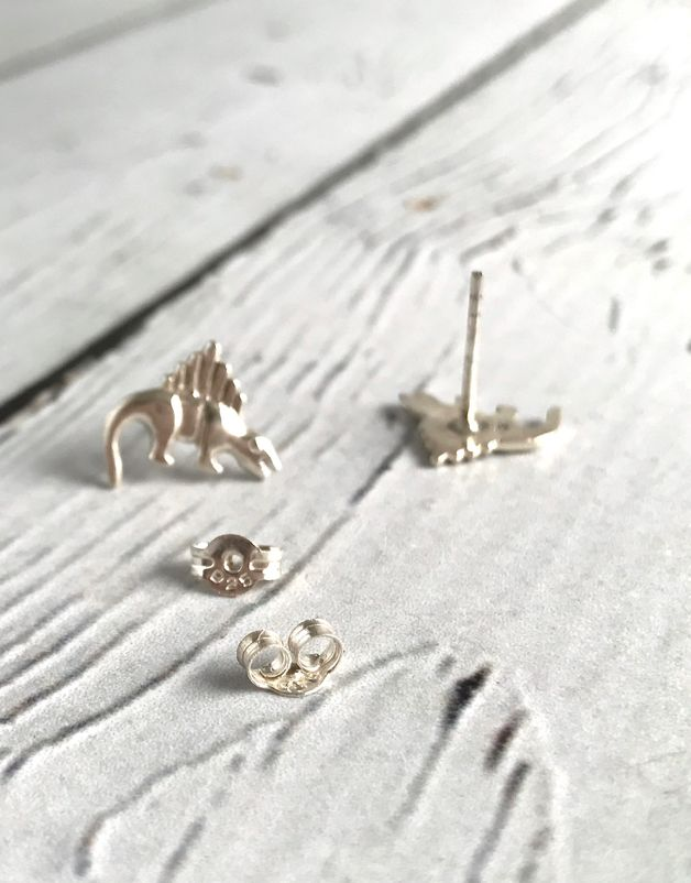Sterling Silver Dinosaur stud Earrings