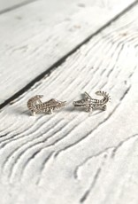 Sterling Silver Alligator Stud Earrings