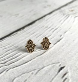 14k Gold-Plated Hasma Stud Earrings