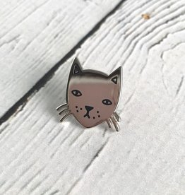 Stay Home Club Cat Lapel Pin