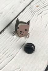 Stay Home Club Cat Lapel Pin