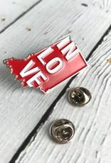IN Love Enamel Pin