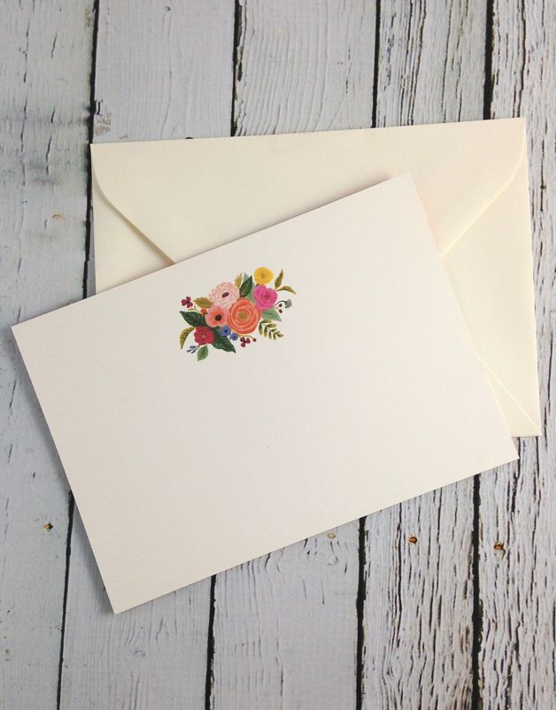 Juliet Rose Social Stationery