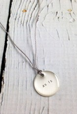 """as is"" Mini Type Necklace on 16"" Cord"