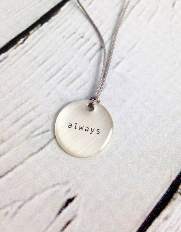 """always"" Mini Type Necklace on 16"" Cord"