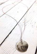 "Sterling Silver Litho ""Morning Ride"" Necklace"