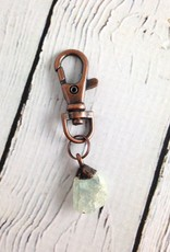 Raw Aquamarine and Copper Keyring by Hawkhouse