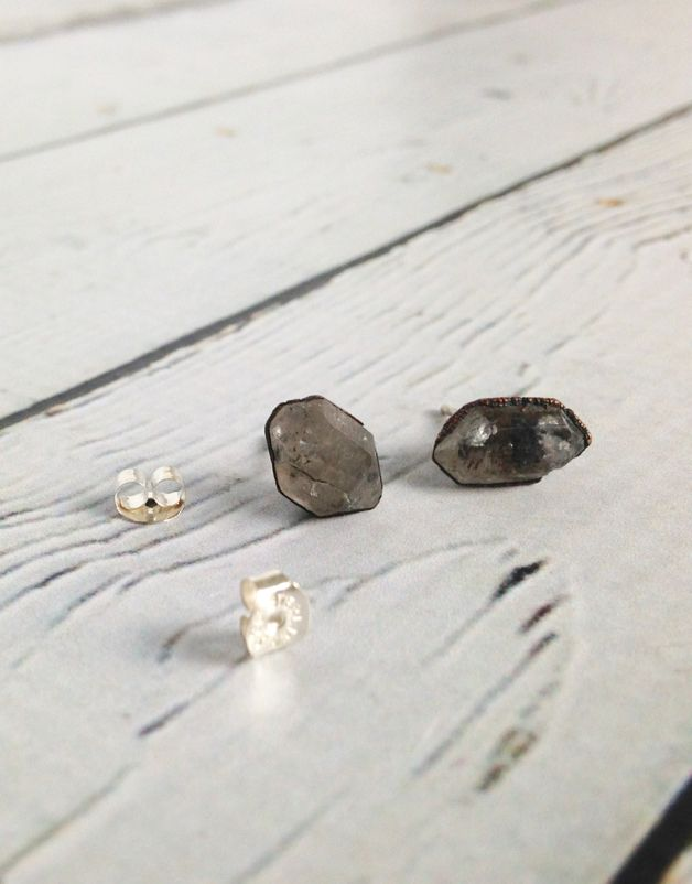 Raw Anthraxilite Stud Earrings
