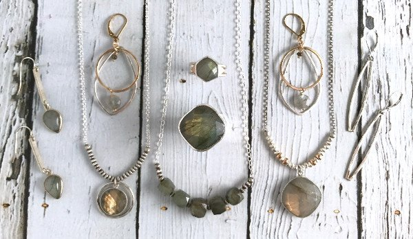 Silver, Gold & Labradorite