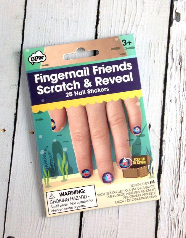 Scratch and Reveal Fingernail Friends