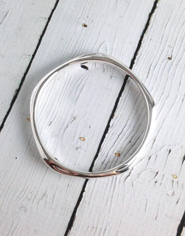 Sterling Silver 5-Point Pure Bangle Bracelet