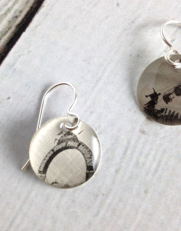 Sterling Litho Indiana State Fair Earrings - Emily Schwank Collection