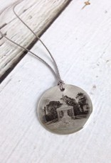 Sterling Litho Woodruff Place Fountain Necklace - Emily Schwank Collection