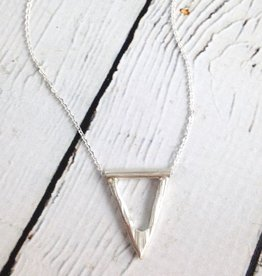 Handmade Oxidized Sterling Heavy V Necklace