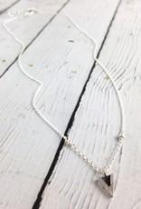 Handmade Oxidized Sterling V Necklace