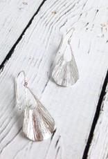 Sterling Silver Textured Dangle Earrings