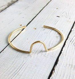 "Handmade 14k Gold-fill ""Hill"" Cuff Bracelet"