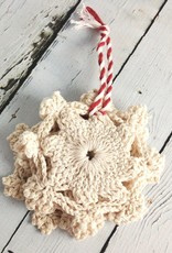 Snowflake Crochet Coasters Set of 4